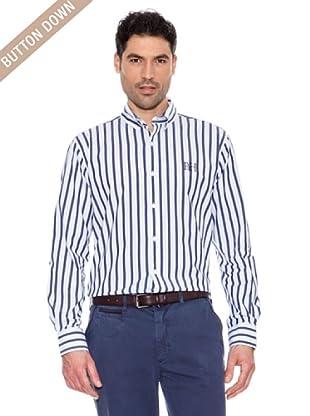 Pedro Del Hierro Camisa Rayas (Azulón / Blanco)
