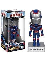 Iron Patriot ~6.5 Bobble Head Figure: 'Iron Man 3' Wacky Wobbler Series