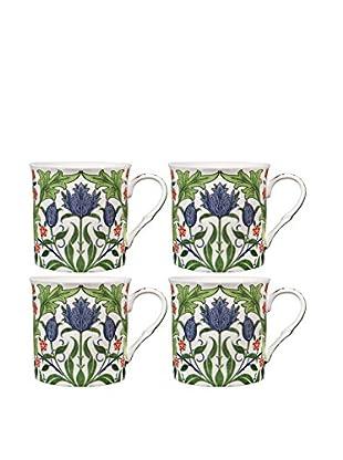 Home Essentials Set of 4 Floral 10-Oz. Mugs