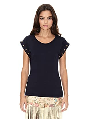 Rare London Camiseta Stud (Azul Marino)