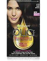 Garnier Olia Oil Powered Permanent Haircolor, Dark Brown 4.0