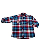 LITTLE MAN Cotton Boy's Shirt (LM1C1_16 , Green, 16)