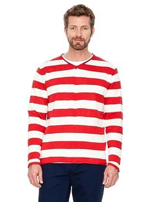 Cortefiel Jersey Rayas (rojo / blanco)