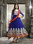 Bhuwal Fashion Blue Faux Georgette Long Anarkali Salwar Suit