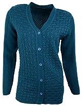 Casanova Women's Long Sleeve Cardigans (9103, Indigo, XL)
