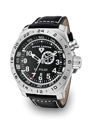 Swiss Legend Reloj Cuarzo SL Pilot GMT negro