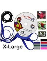 The AVIATOR Bird Harness and Leash: X-Large Silver