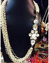 Designing Dreamz Indo Western Pearl chain Multistring Neckpiece