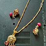 Red Non-Precious Metal Alloy Traditional Jewellery Set