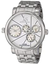 Joshua & Sons Men's JS-35-SS Dual Time Stainless Steel Watch