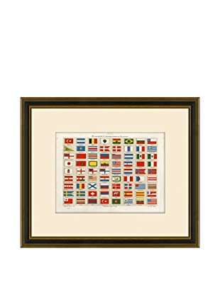 Antique Lithographic International Flags, 1894-1904