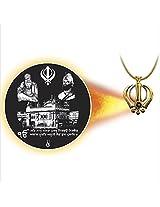 Dijyo Divine Darshan Golden temple with Guru nanak ji pendant For Unisex(SGP36GT)