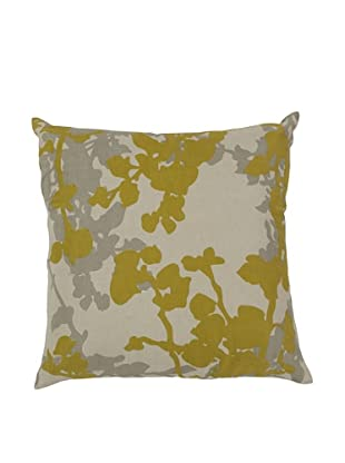 Surya Floral Throw Pillow (Aluminum)