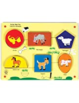 Skillofun Fun Geo Shape Tray - Useful Animal (Raised), Multi Color
