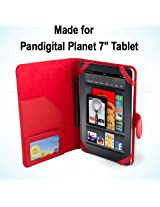 Pandigital Planet 7 inch Tablet Case / Cover - Red SRX Executive by Kiwi Cases