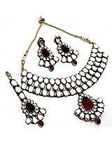 Kundan Traditional Embedded Earrings Necklace