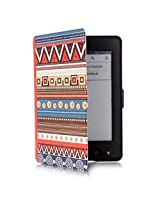 "ProElite Designer Smart Flip Case Cover for Amazon Kindle 6"" Glare-Free Touchscreen Display, Wi-Fi ereader (7th Generation, 2014) (Sleep/Wake) (Design-Retro)"