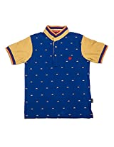 Gusto 1393 Boy's Cotton T-Shirt (Size : 13-14 Years) - Blue