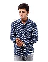 Albelishop Men's Button Front Shirt (FI007_XXL, Multi-Colour, XXL)