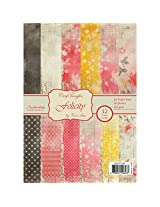Anchor CrafTangles Scrapbook and Craft Paper Pack - Felicity (Size A4) 12 Designs 24 Sheets For Card & Scrapbooking