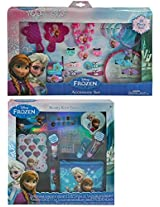 Disney Frozen 25 Piece Hair Accessory and Jewelry Set Plus Disney Frozen Beauty Cosmetic Kit for Kid