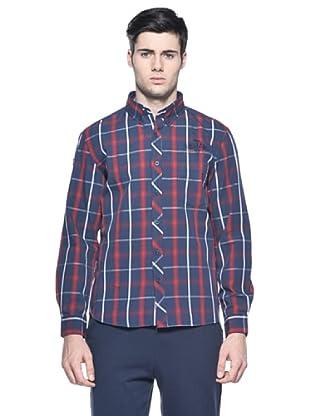 Lonsdale Camisa Cuadros (Azul / Rojo / Crudo)