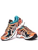 ASICS Men's Gel-Kayano 21 Orange, White and Capri Breeze Mesh Running Shoes - 12 UK