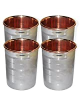 Dakshcraft ® Drinkware Accessories Handmade Copper Tumblers, Set of 4