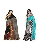 Bhavi Printed Art Silk Sari (Combo of 2 sari)