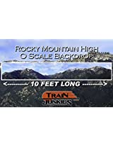 Train Junkies Rocky Mountain High With Clouds Railroad Backdrop O Scale