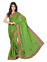 Chandra Silk Mills Pista Colour Maroon Wedding Party Wear Saree