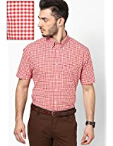 Barbados Cherry-Pt/ Red Half Sleeve Casual Shirts