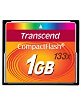 Transcend Compact Flash 1GB Standard 133x Memory Card (TS1GCF133)
