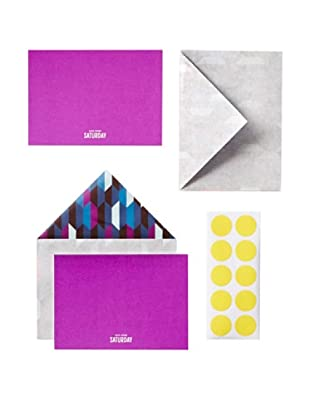 Kate Spade Saturday Shifting Shapes Set of 10 Card & Envelope Stationery Set