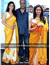 SriDevi in Yellow And White Net work Saree