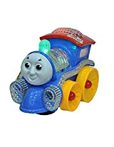 Gifts Online Musical Thomas Engine with lights, Bump and go action, Funny Loco (Multicolor)