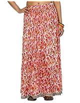 Rajrang Baby Pink Ethnic Printed Women Skirts