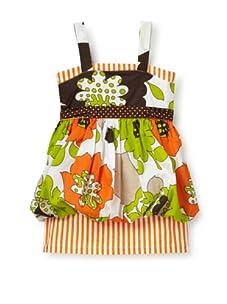 Beetlejuice Girl's 2T-6X Buttercream Print Bubble Skirt Dress (Multi)