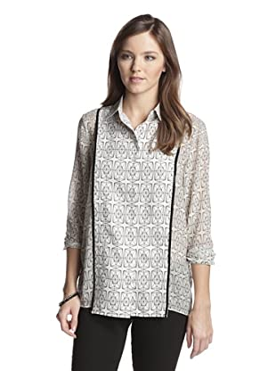 San & Soni Women's Ella Diamond Mine Shirt (Chalk)