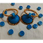Paper jwel_Blue Jhumka Handicrafted