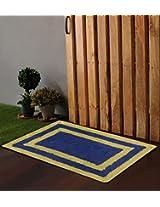 """Po Box Multi Border Blue Bath Rug 24""""x16"""""""