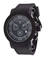 Cyclone Chronograph Black Dial And Silicone Strap Dark Grey Accents (30465-Bb-01-Grya)