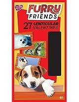 Paper Magic Furry Friends Valentine Lenticular Exchange Cards (27 Count)
