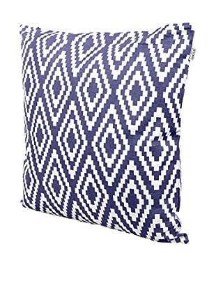 Glam Home Cojín Aref 50 x 50 cm Azul / Blanco