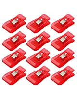 Imported 50 Pcs Wonder Clips for Crafts Hobbies Quilting Sewing Clips Red