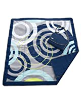"JJ Cole Outdoor Blanket, Blue Orbit, 7"" x 5"""