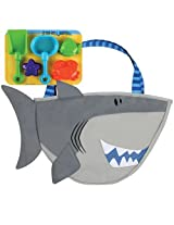 2 Shovels & Three Beach Molds Shark Beach Tote