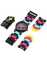 LEGO Kids' 8020233 Movie Wyldstyle Plastic Watch with Link Bracelet and Figurine
