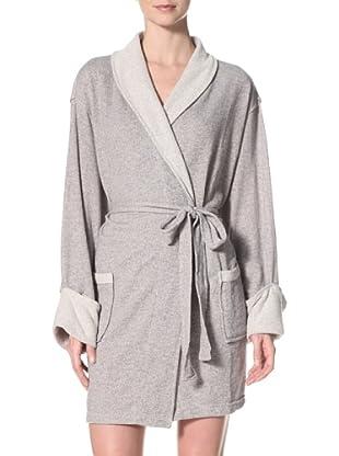Aegean Apparel Women's Sweatshirt Robe, Heather Grey (Heather Grey)