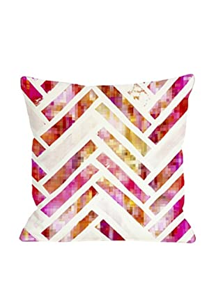 Oliver Gal by One Bella Casa Sugar Flake Herringbone Pillow, Pink/Multi